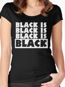 Black Is Black Women's Fitted Scoop T-Shirt