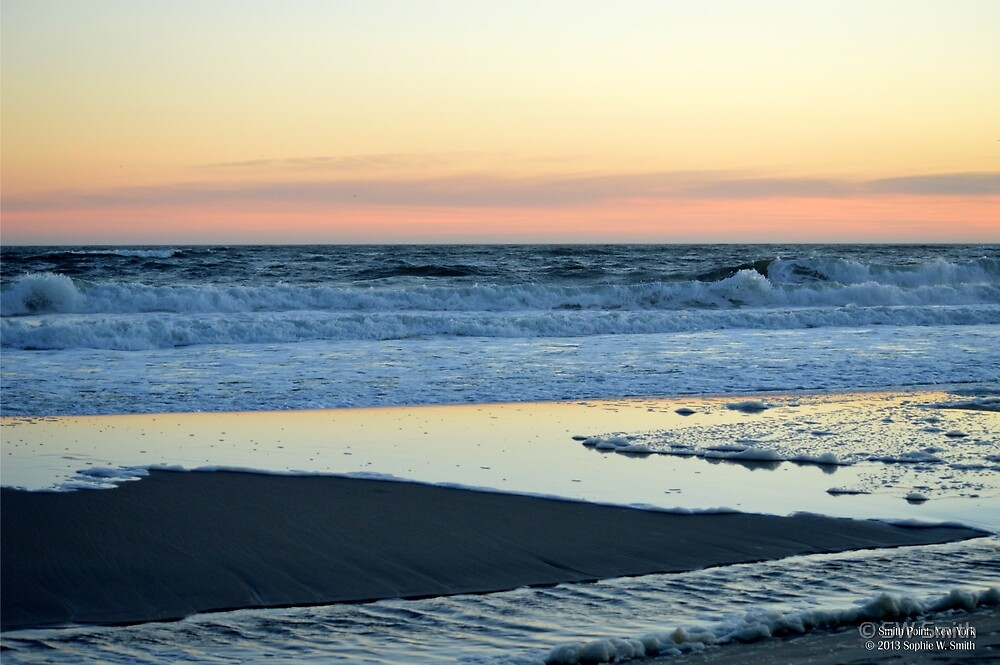 Atlantic Ocean Beach In The Morning - Walk With Me | Smith Point, New York  by © Sophie W. Smith