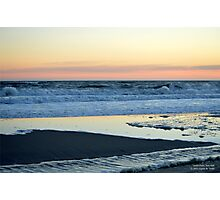 Atlantic Ocean Beach In The Morning - Walk With Me | Smith Point, New York  Photographic Print