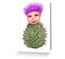 Flower Folk - Thistle Greeting Card