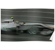 Nico Rosberg 2010 Aust GP Poster