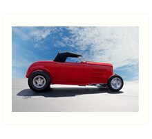1932 Ford 'Top Up' Roadster Art Print