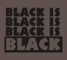 Black Is Black Kids Clothes