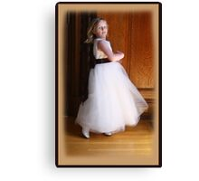 Dancing Flower Girl Canvas Print