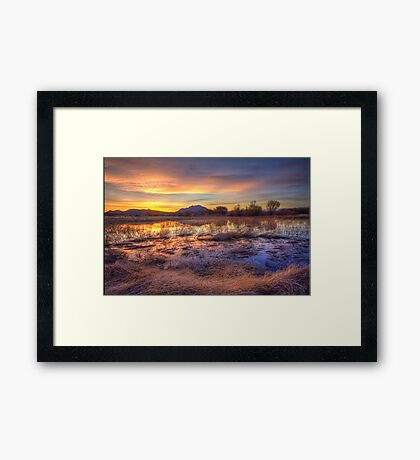 Hey, Bob posted another Sunset Pic..how original! Framed Print