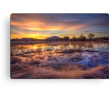 Hey, Bob posted another Sunset Pic..how original! Canvas Print