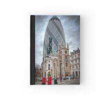 Moody Gherkin: London, UK. Hardcover Journal