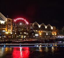 Clarke Quay at Night by Marylou Badeaux