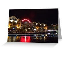 Clarke Quay at Night Greeting Card