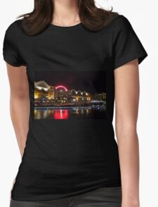 Clarke Quay at Night Womens Fitted T-Shirt