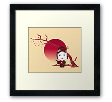 Cherry Blossom Girl Framed Print