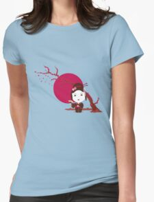 Cherry Blossom Girl Womens Fitted T-Shirt
