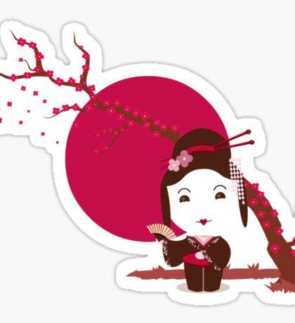 Cherry Blossom Girl Sticker