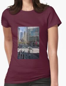 Downtown through Glass Womens Fitted T-Shirt