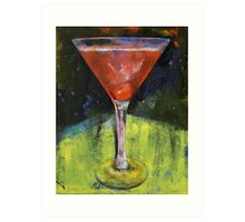 Comfortable Cherry Martini Art Print