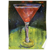 Comfortable Cherry Martini Poster