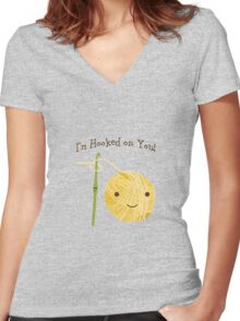 I'm Hooked on you Women's Fitted V-Neck T-Shirt