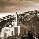 Draper Temple - Sepia by Ryan Houston