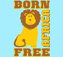 LION-BORN FREE AFRICA Women's Fitted Scoop T-Shirt