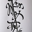 CALLIGRAPHY-ABSTRACT by kamaljeet kaur
