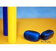 Still Life in Blue and Yellow Photographic Print
