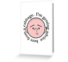 Advice from a cabbage - Pilkology Greeting Card