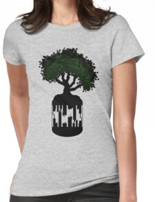 Nature VS Technology Womens Fitted T-Shirt