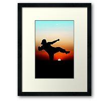Sunset martial arts Framed Print