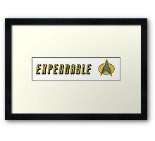 STAR TREK EXPENDABLE Framed Print