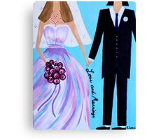 Love And Marriage Canvas Print