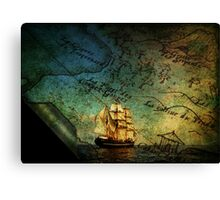 Treasure Map Canvas Print