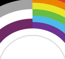 Homo-asexual Rainbow Sticker