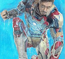 drawing of ironman by lisabcreations