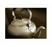 No Time for Tea Anymore...Obsolete.. Art Print