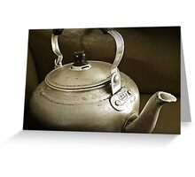 No Time for Tea Anymore...Obsolete.. Greeting Card