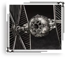 TIE-FIGHTER framed Canvas Print