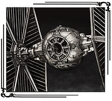 TIE-FIGHTER framed Photographic Print