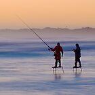 platform fishermen - wedge island, western australia by col hellmuth