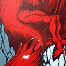 Red Dragon Over Mountains by Jordan Debben