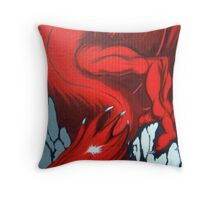 Red Dragon Over Mountains Throw Pillow