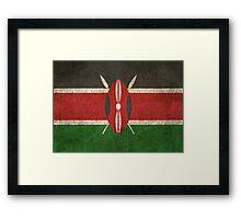 Old and Worn Distressed Vintage Flag of Kenya Framed Print