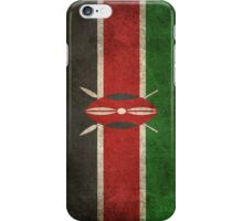 Old and Worn Distressed Vintage Flag of Kenya iPhone Case/Skin