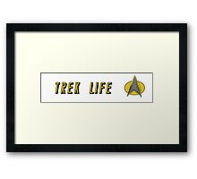 Trek Life Star Trek Framed Print
