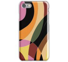 Abstract curves iPhone Case/Skin