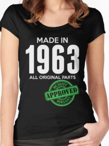 Made In 1963 All Original Parts - Quality Control Approved Women's Fitted Scoop T-Shirt