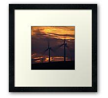 Turbine Sunset Framed Print