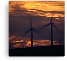Turbine Sunset Canvas Print