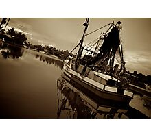 sepia trawling Photographic Print