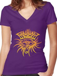 Bob Dylan cool logo Women's Fitted V-Neck T-Shirt