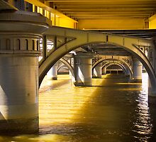 Shapes under Sandridge Railway Bridge, Melbourne by Elana Bailey